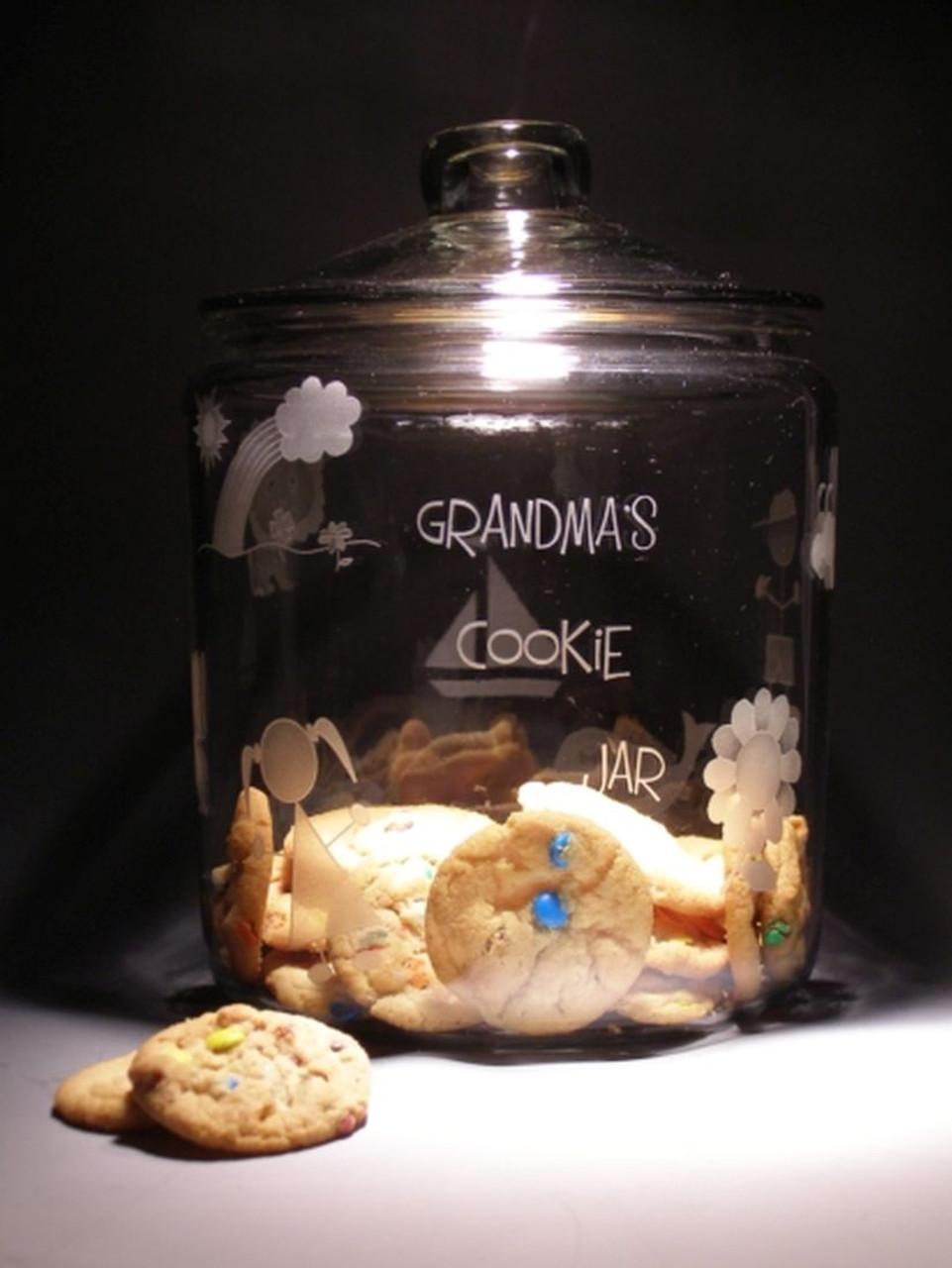 Hand Carved Crystal Cookie Jar - 1 Gal - Personalized