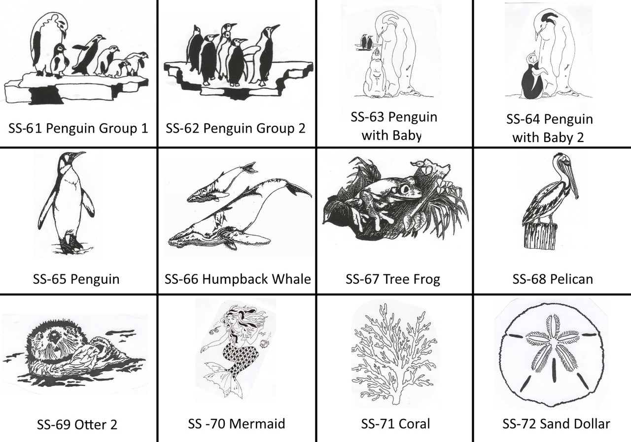 Engravable Images SS-61 to SS-72