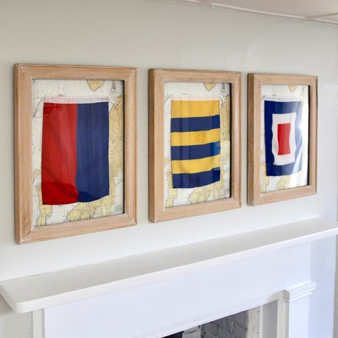 Nautical Signal Flags - Framed - Individual - A-Z