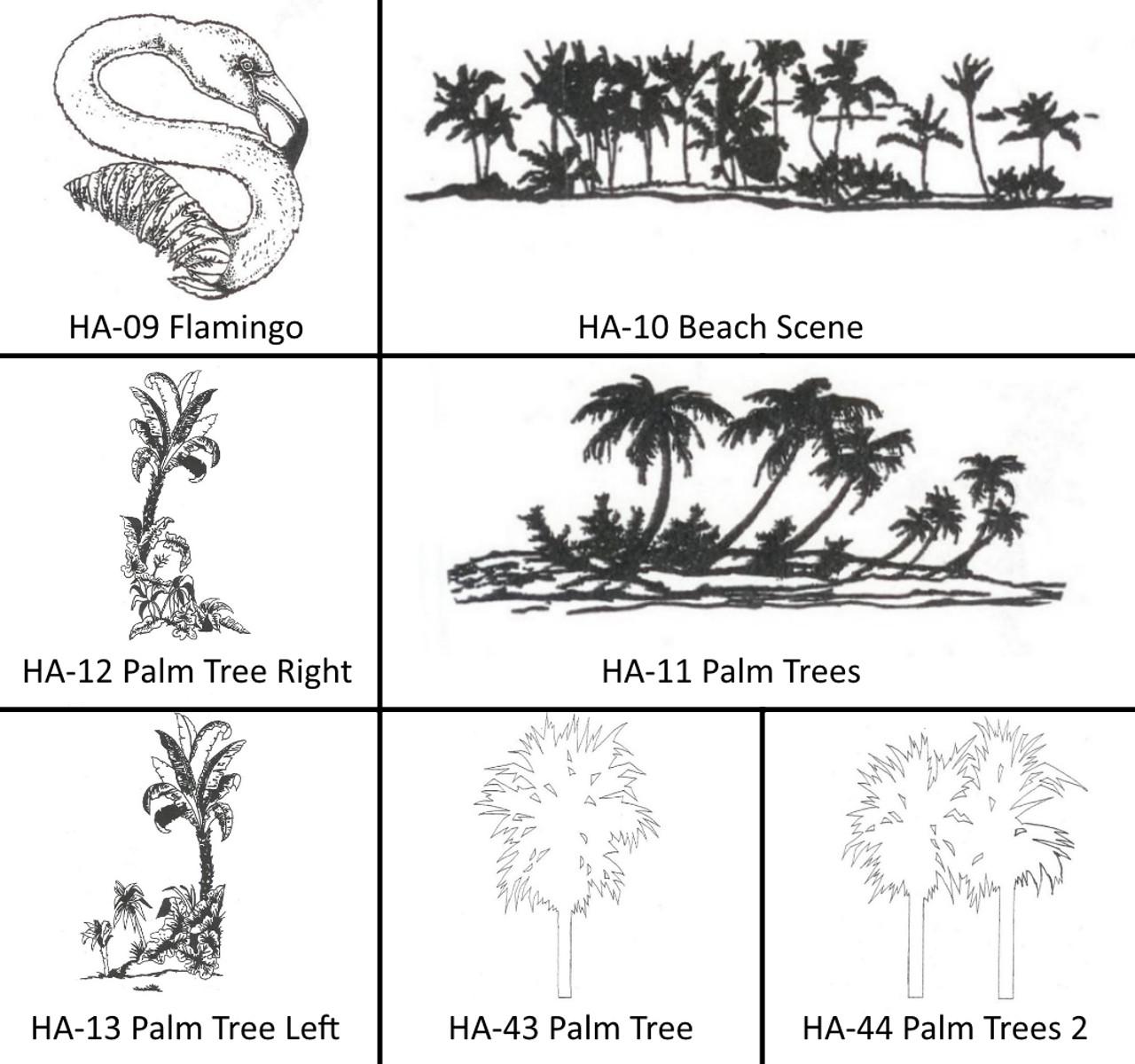 Engravable Images HA-09 to HA-44