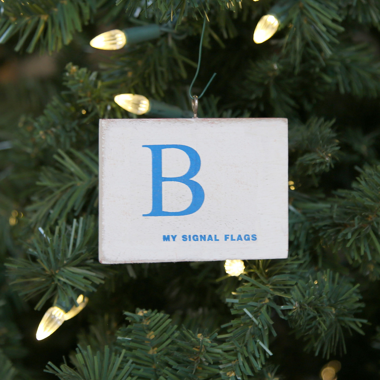 Nautical Signal Flag Ornament - Letter B