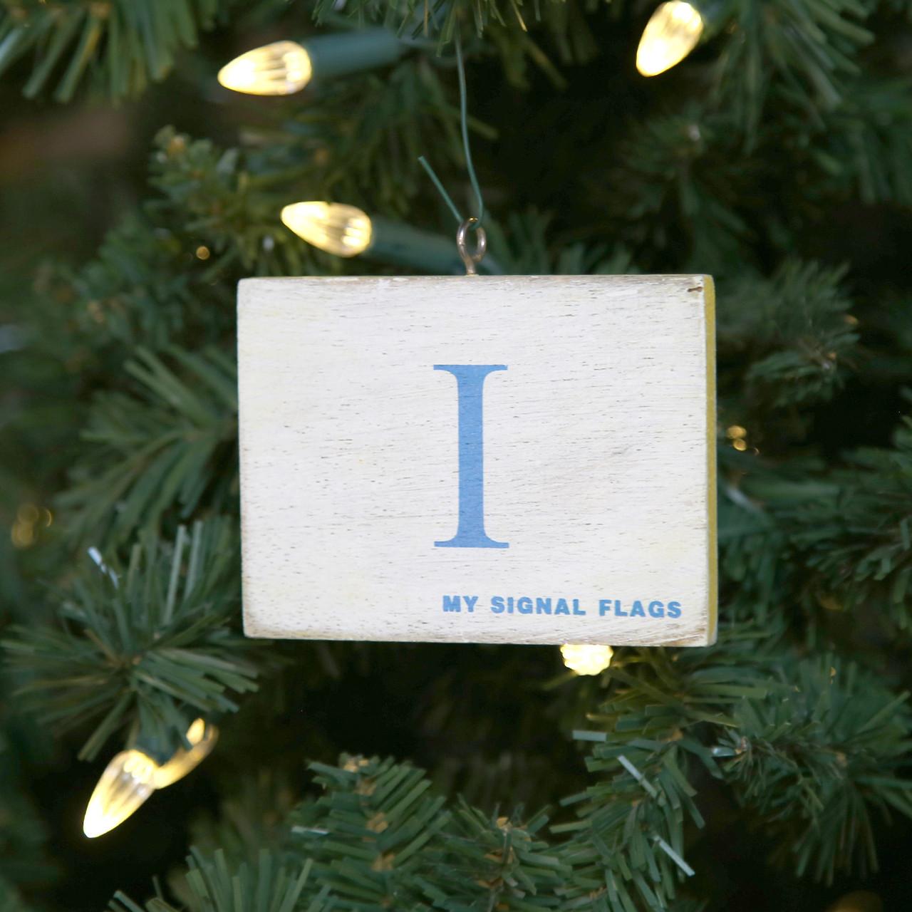 Nautical Signal Flag Ornament - Letter I