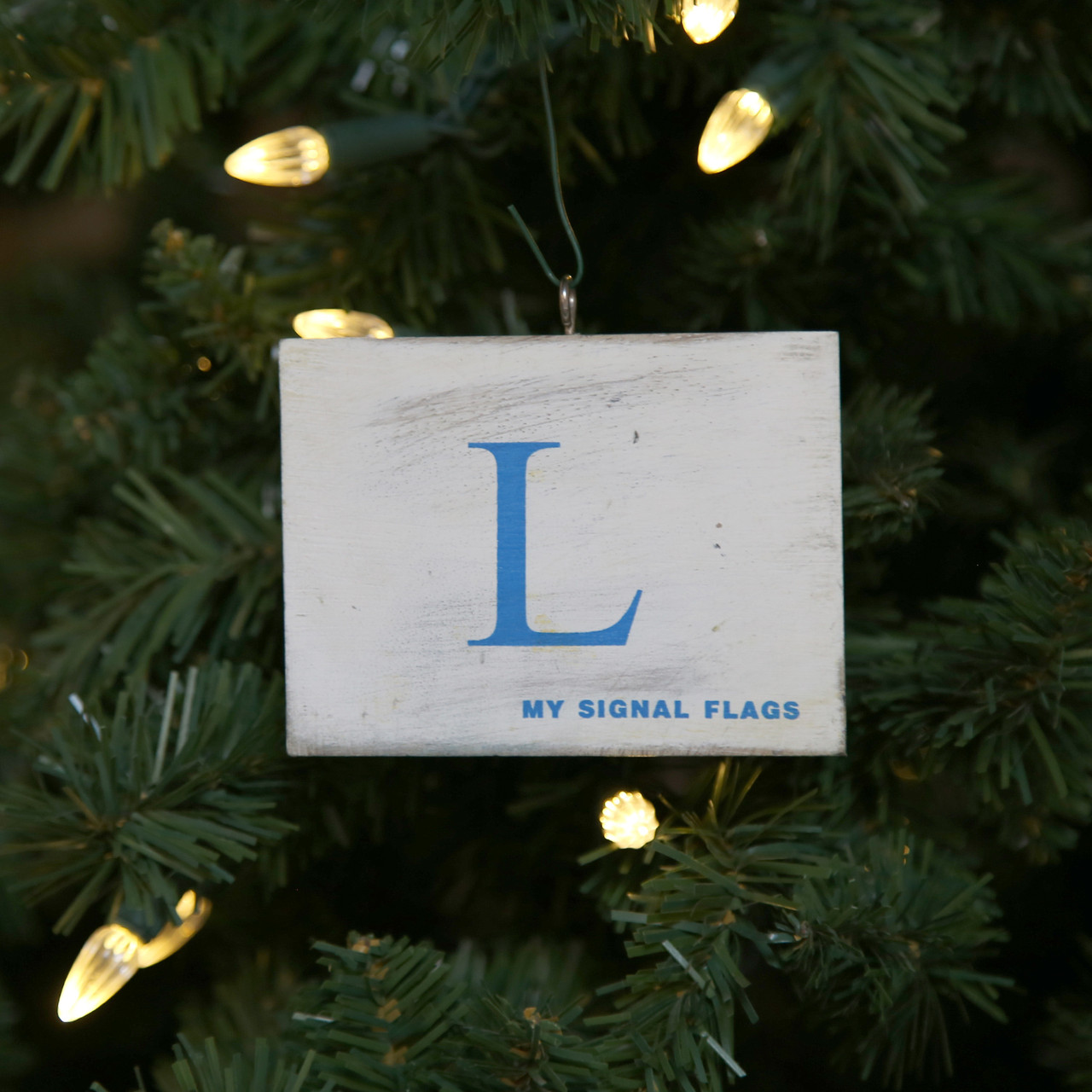 Nautical Signal Flag Ornament - Letter L