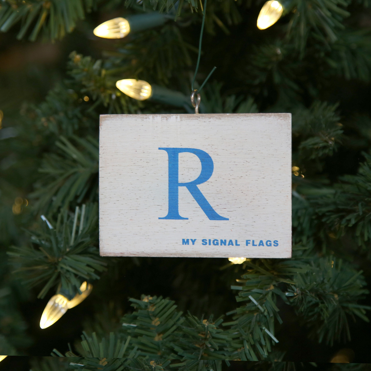 Nautical Signal Flag Ornament - Letter R