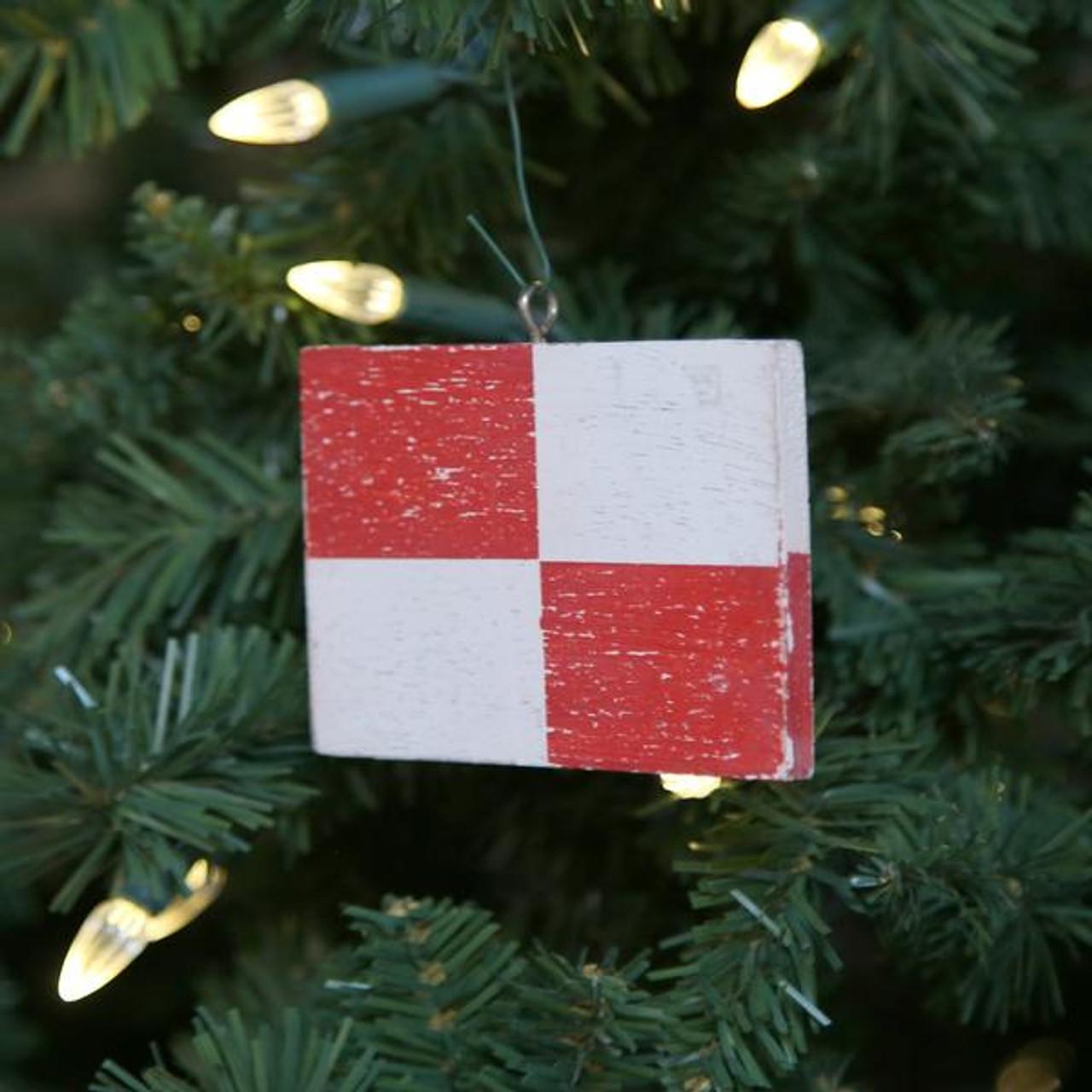 Nautical Signal Flag Ornament - Letter U