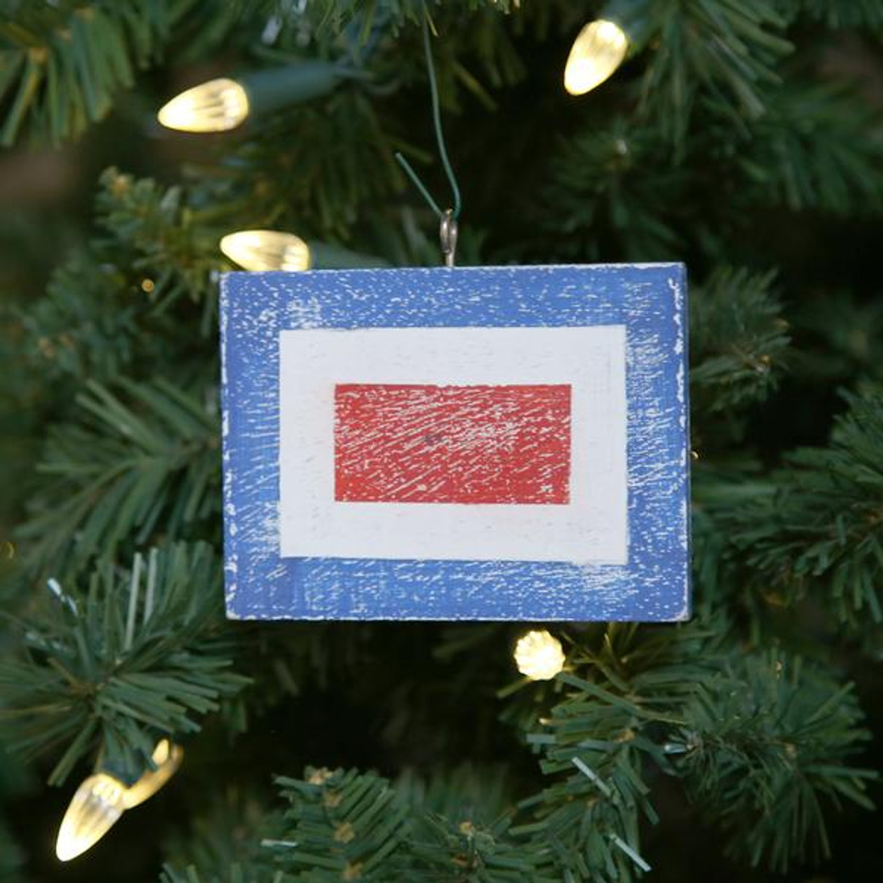 Nautical Signal Flag Ornament - Letter W