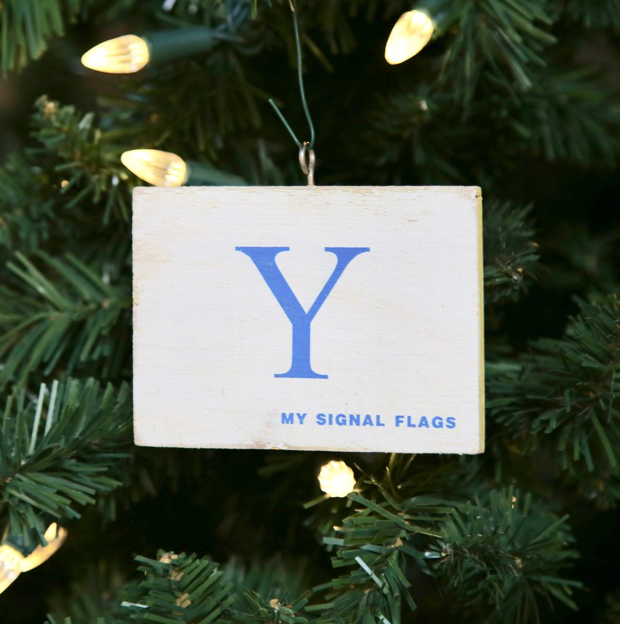 Nautical Signal Flag Ornament - Letter Y