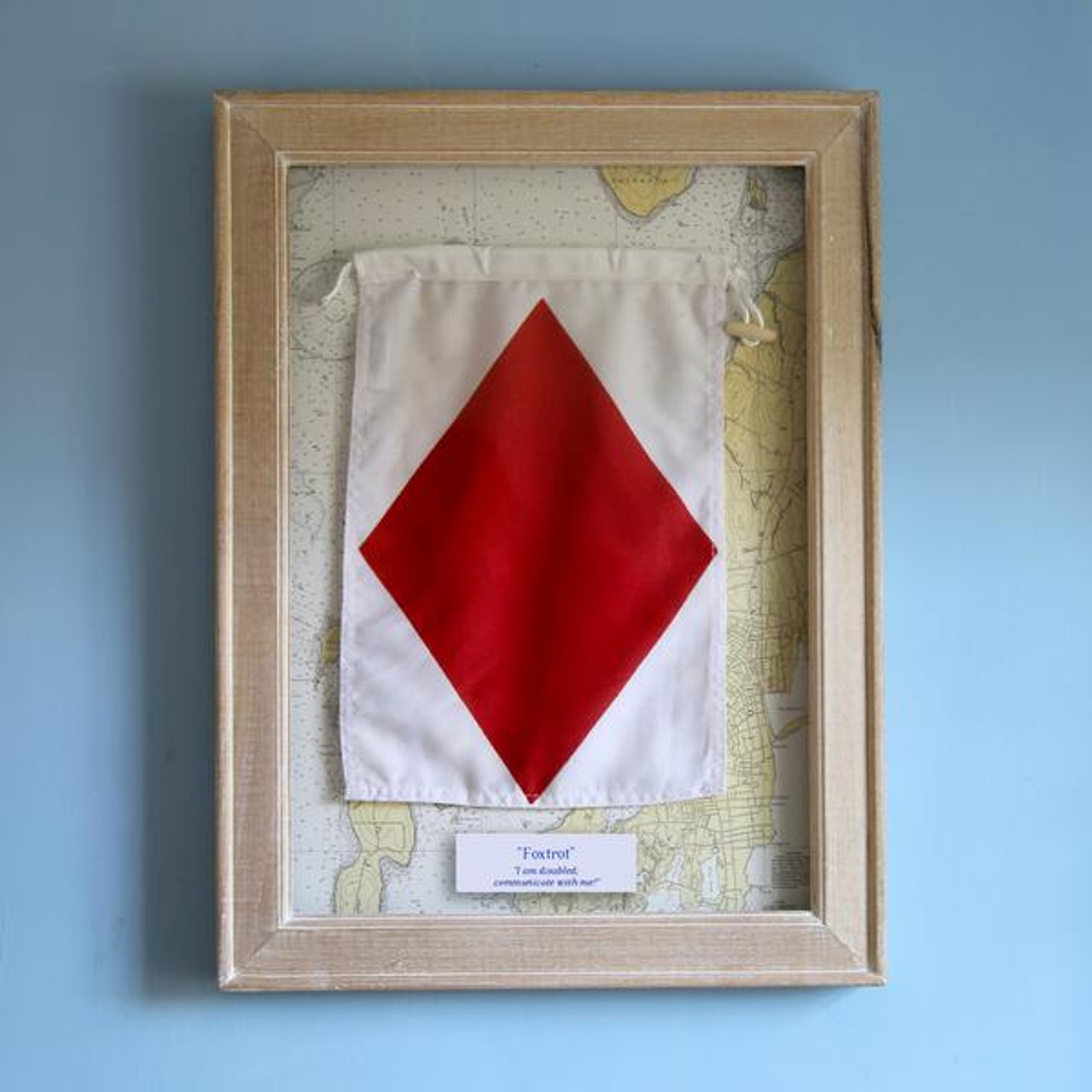 Nautical Signal Flag - Framed - Letter F