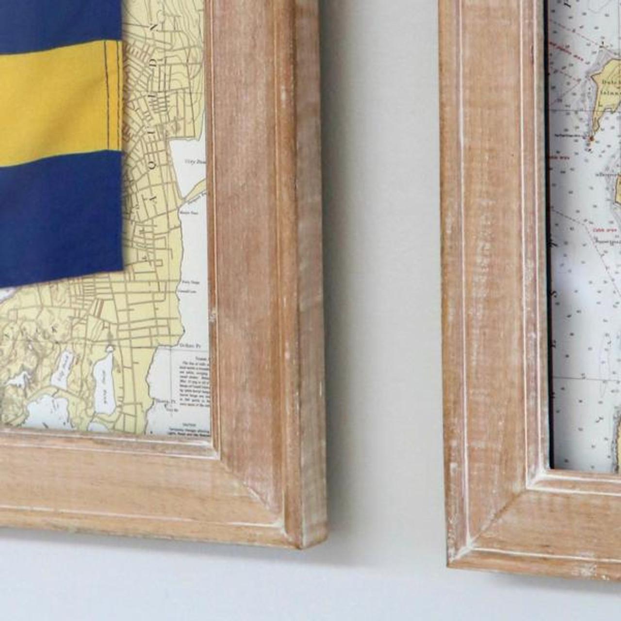 Nautical Signal Flag - Framed - Letter L