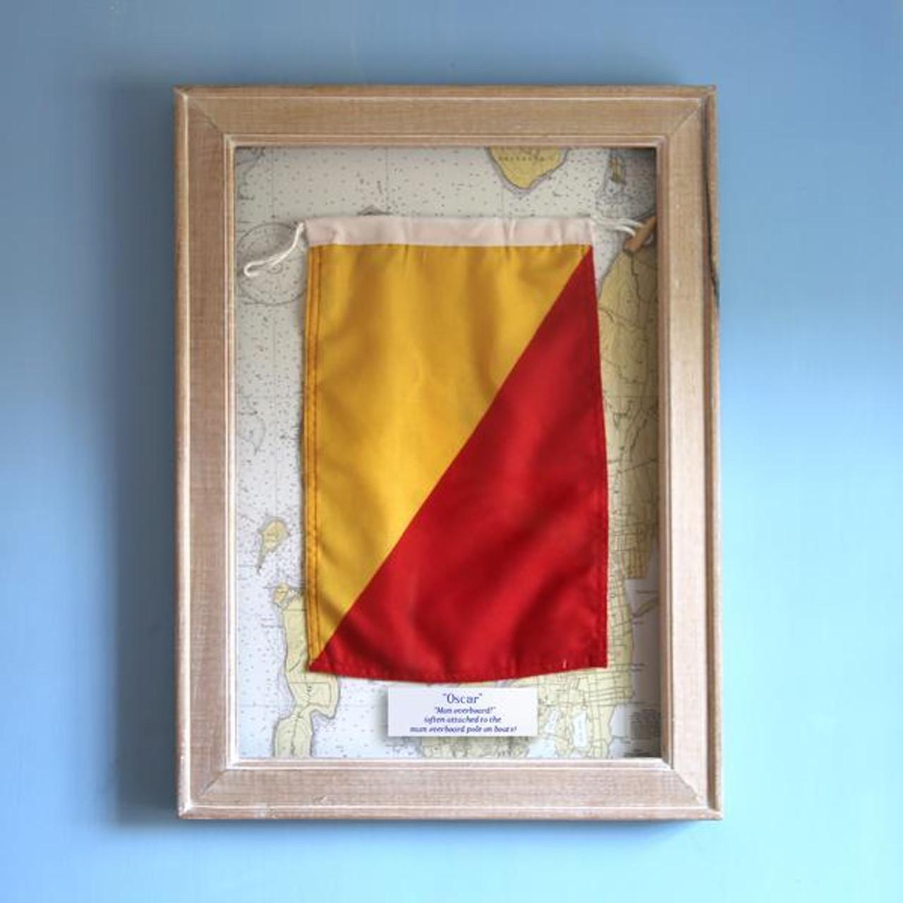 Nautical Signal Flag - Framed - Letter O