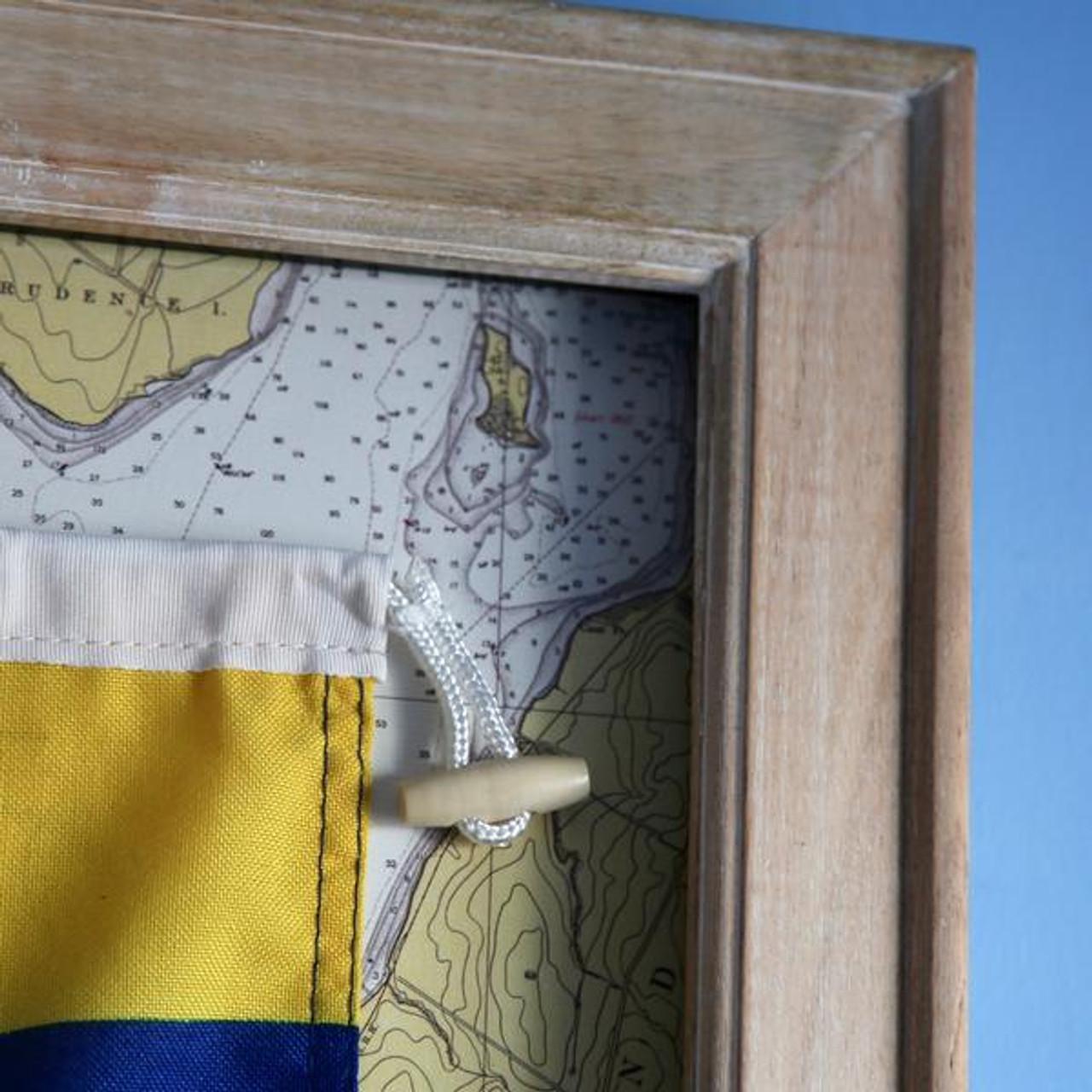Nautical Signal Flag - Framed - Letter R