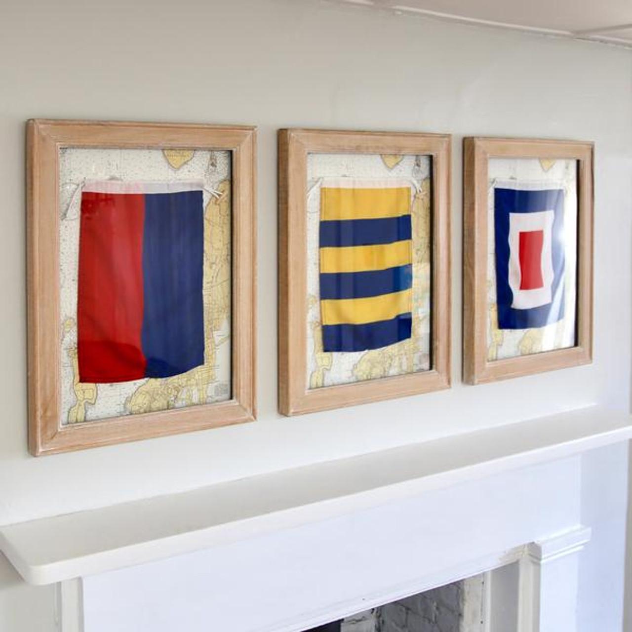 Nautical Signal Flag - Framed - Letter T