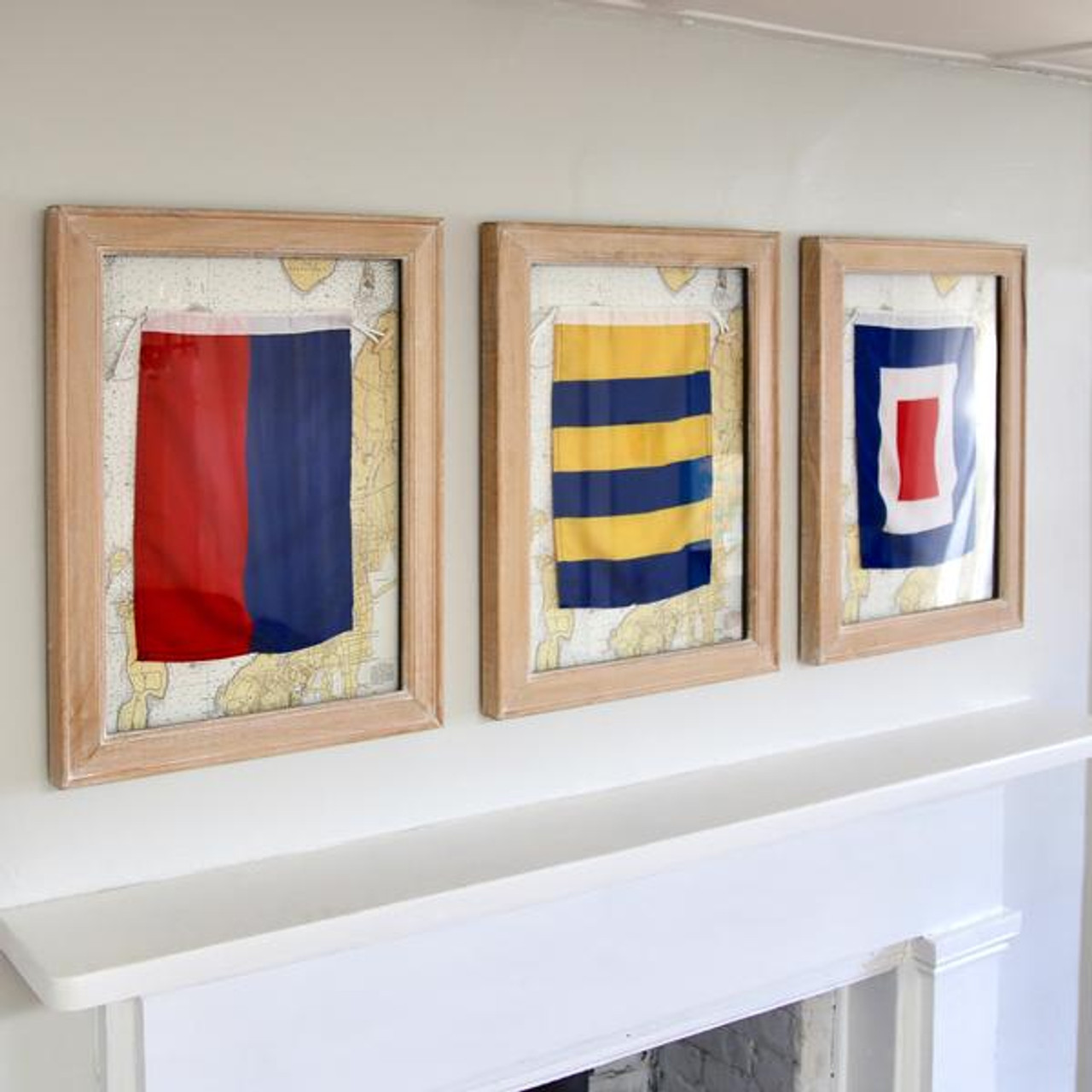 Nautical Signal Flag - Framed - Letter V