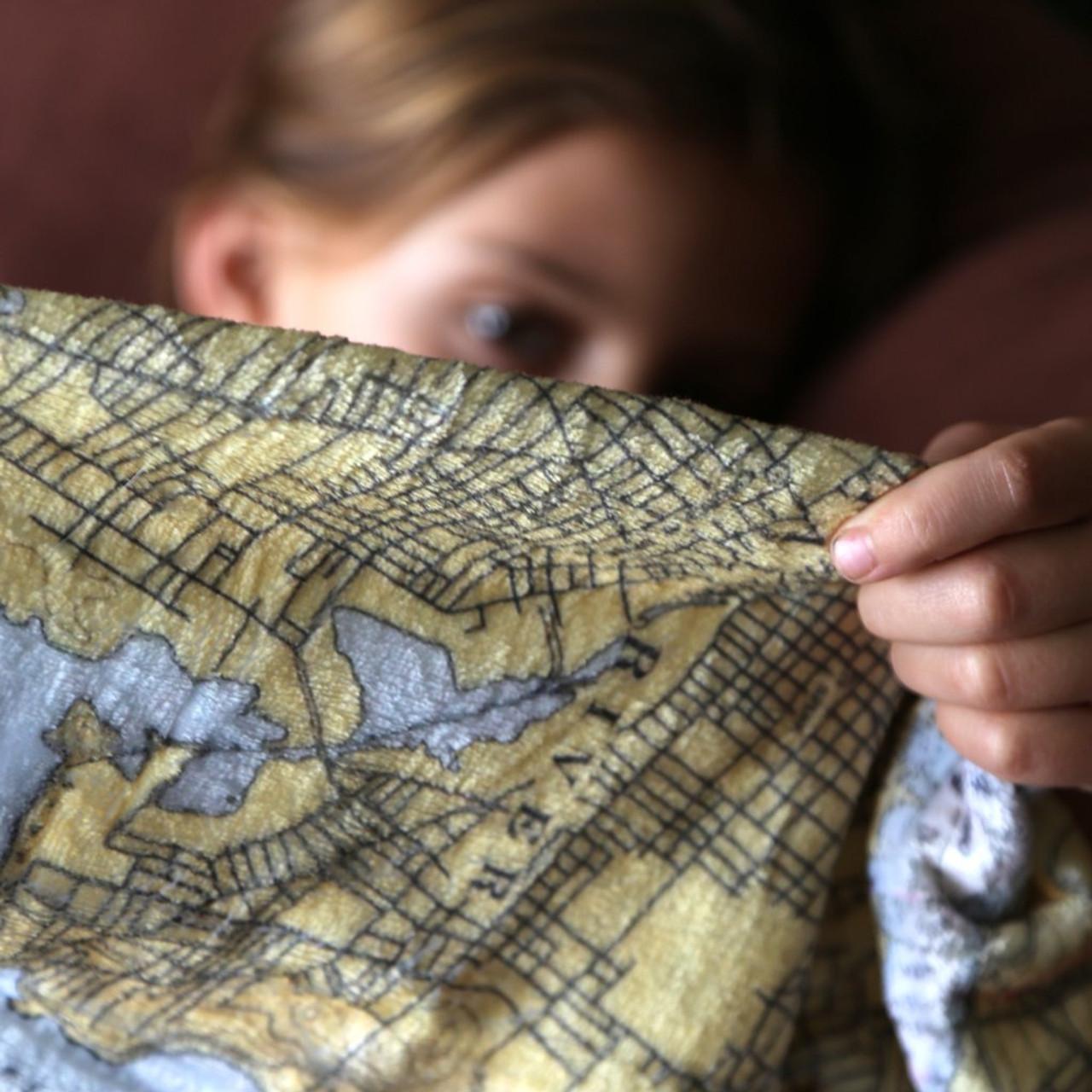 Nautical Blanket - Bath to Pemaquid, ME