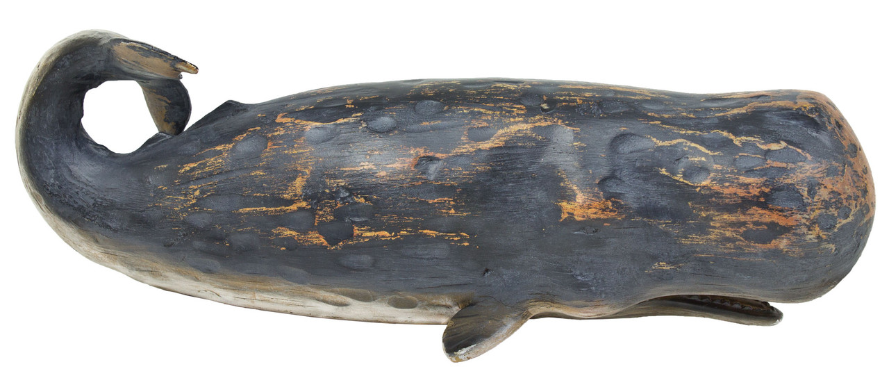 "(MR-148) Large 14"" Whale Resin Sculpture"