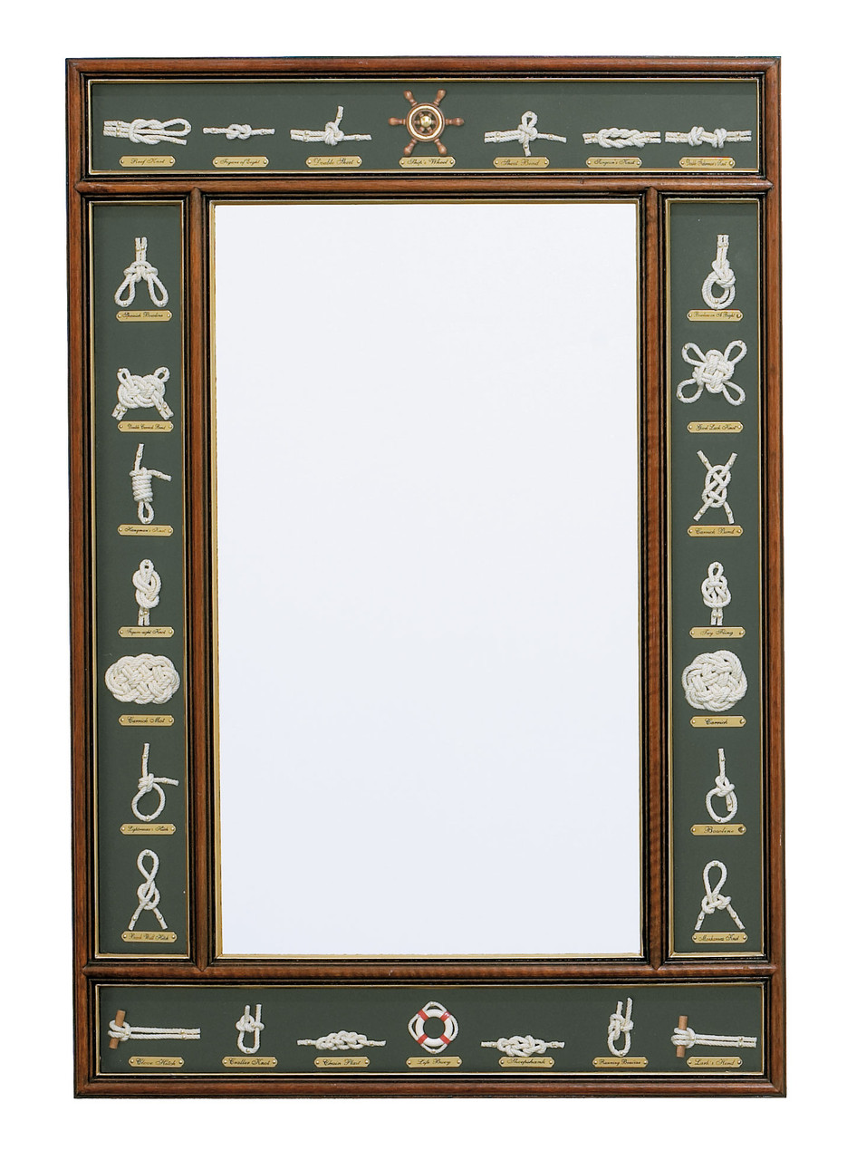 "(W-448) Large 31"" Knot Board Mirror"