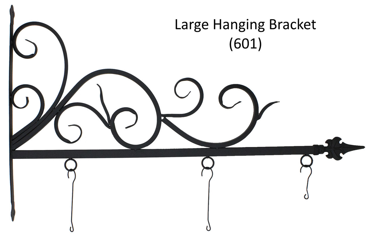 "(MDH-601) Large Hanging Bracket for (MDWVH-150) Small 17"" Hanging Antique Copper Mermaid  (Sold Separately)"
