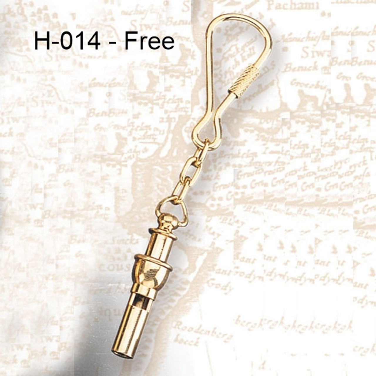 H - 014 -  Bosun's Whistle Key Chain Option Free with Purchase of (MP-2047) 3 Dimensional Compass Rose Wooden Wall Art with LED Back Lighting