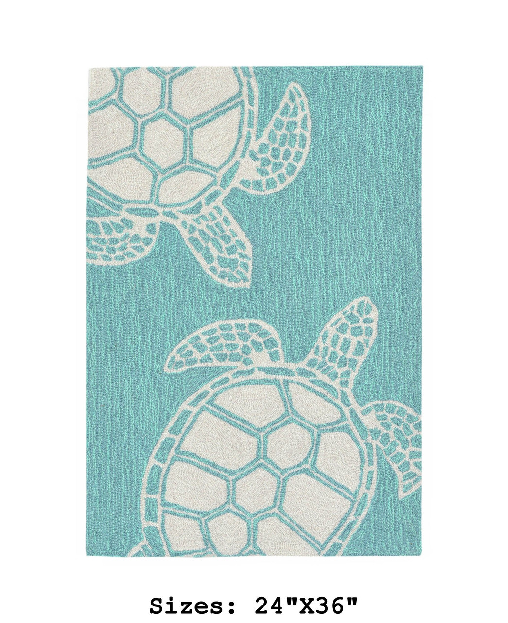 Capri Turtle Indoor/Outdoor Rug - Aqua - Small Rectangle Available in 6 Sizes