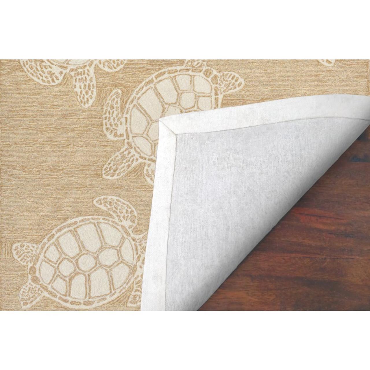 Capri Turtle Indoor/Outdoor Rug - Neutral -  Backing