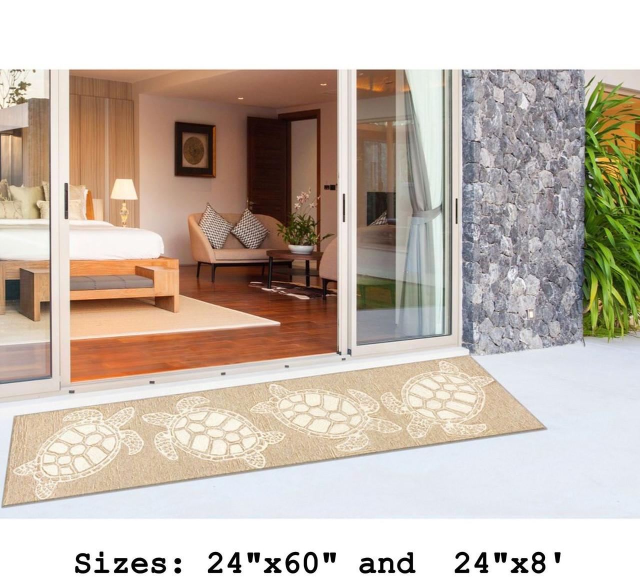 Capri Turtle Indoor/Outdoor Rug - Neutral - Large Runner Lifestyle