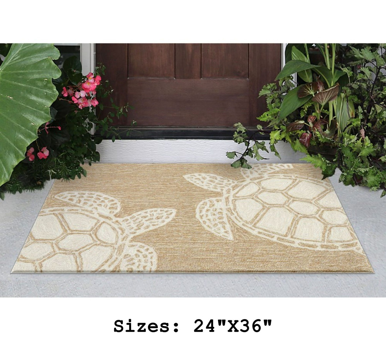 Capri Turtle Indoor/Outdoor Rug - Neutral - Small Rectangle Lifestyle