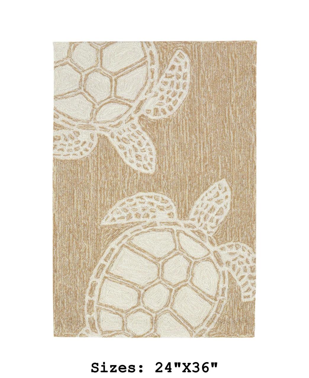 Capri Turtle Indoor/Outdoor Rug - Neutral - Small Rectangle