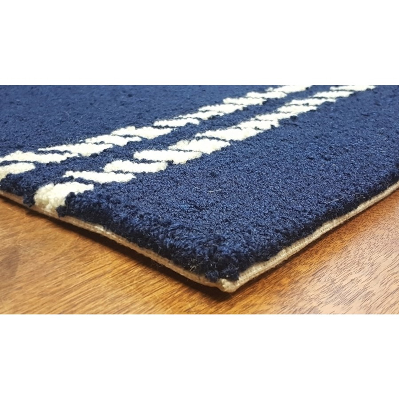 Navy Capri Nautical Ropes Indoor/Outdoor Rug - Pile