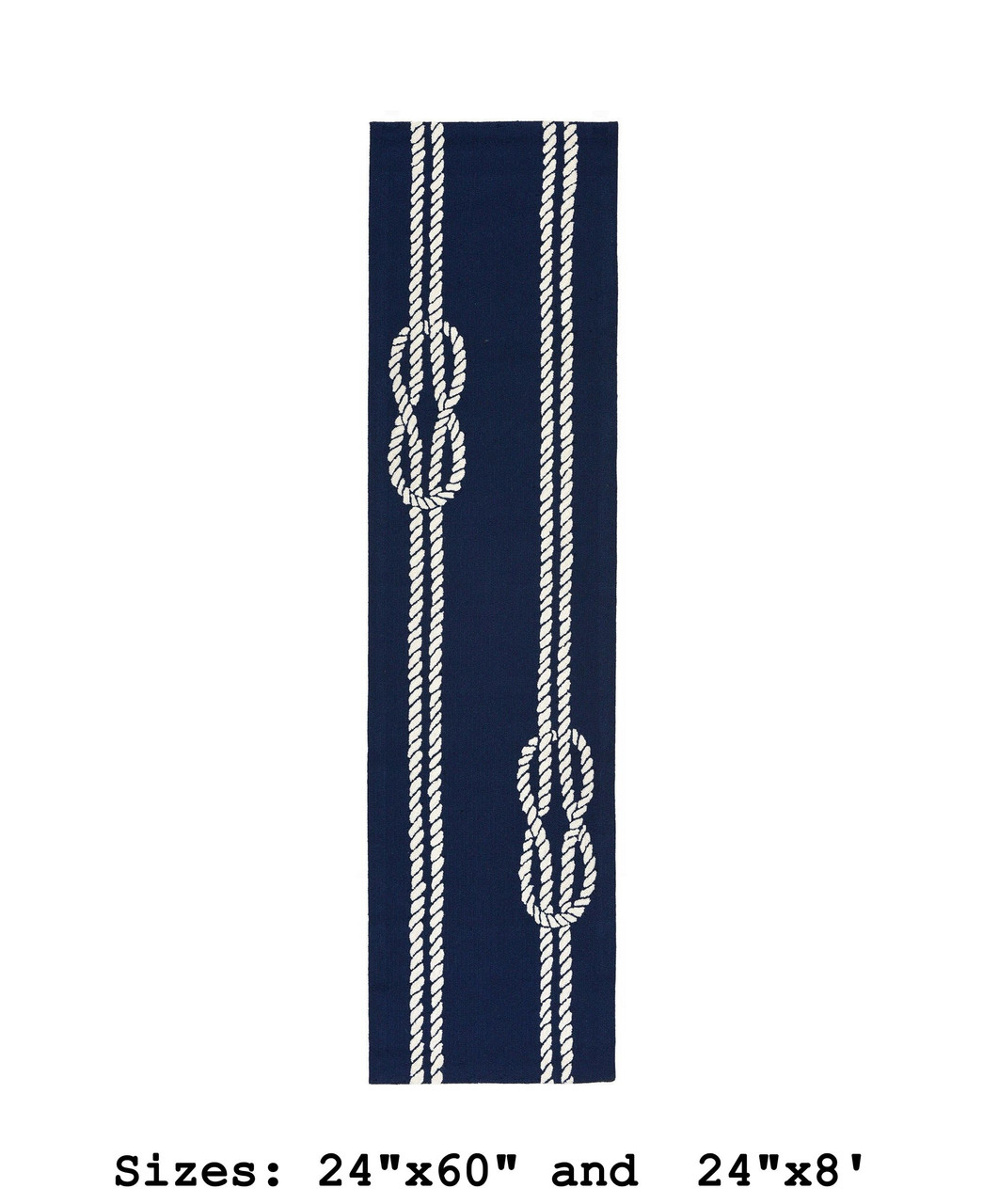 Navy Capri Nautical Ropes Indoor/Outdoor Rug - Runner