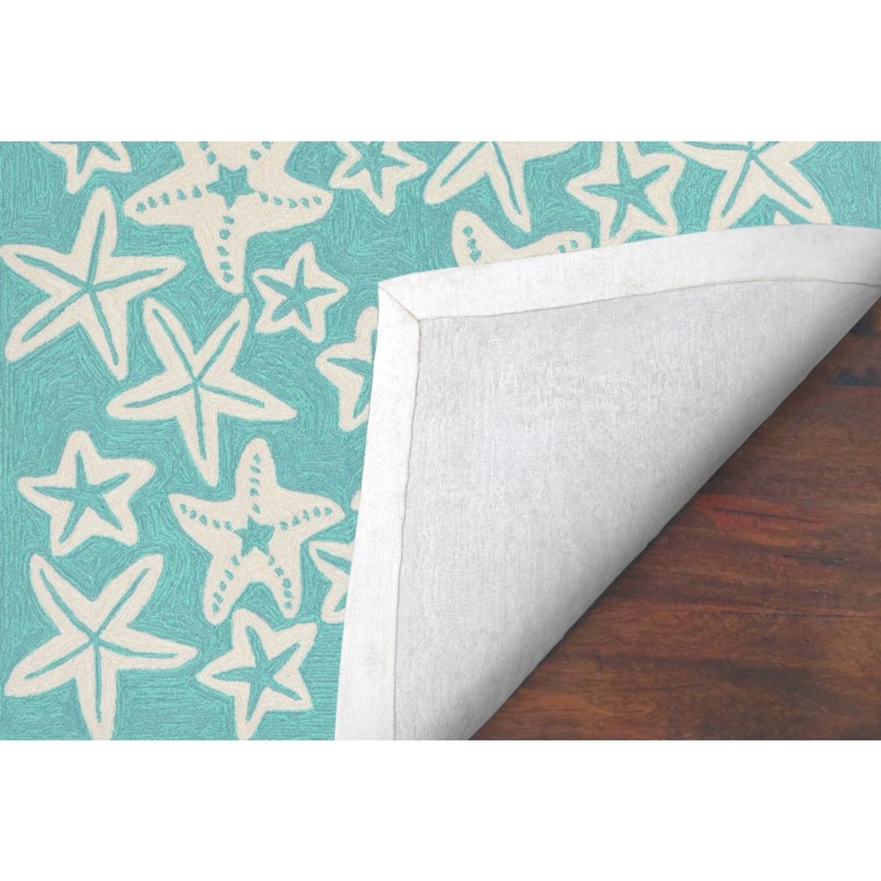 Aqua Capri Starfish Indoor/Outdoor Rug -  Backing