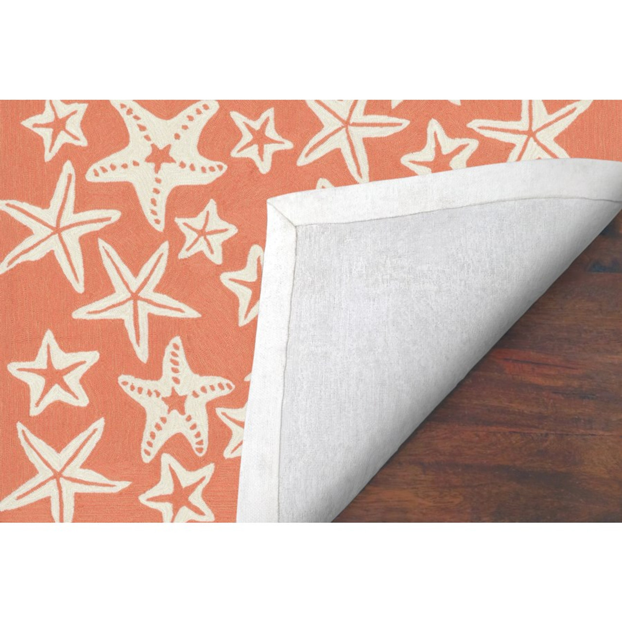 Coral Capri Starfish Indoor/Outdoor Rug - Backing