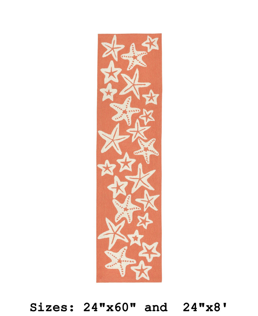 Coral Capri Starfish Indoor/Outdoor Rug - Runner