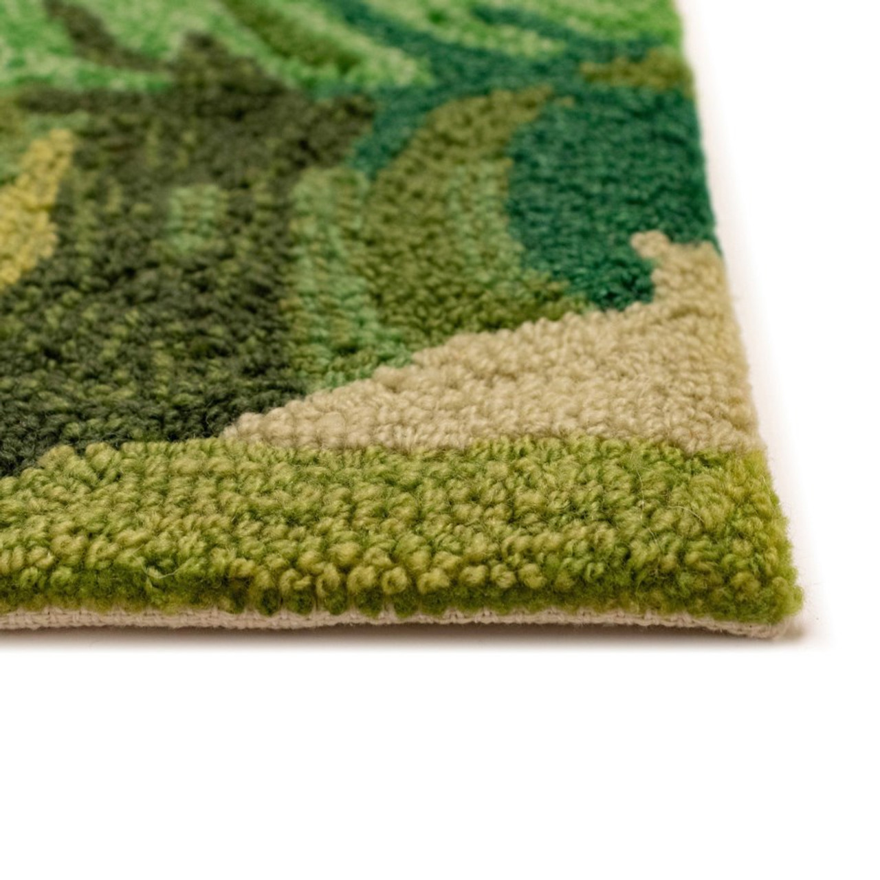 Green Capri Palm Leaf Indoor/Outdoor Rug - Hand Tufted