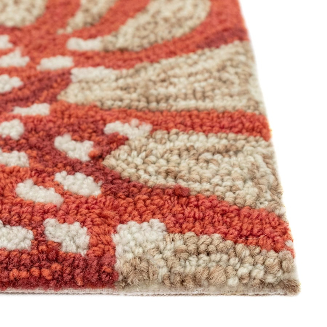 Coral Capri Octopus Indoor/Outdoor Rug -  Pile