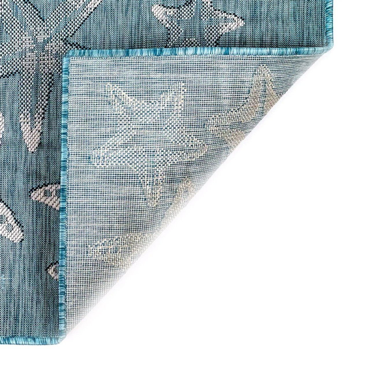 Carmel Starfish  Indoor/Outdoor Rug  - Aqua - 7 Sizes