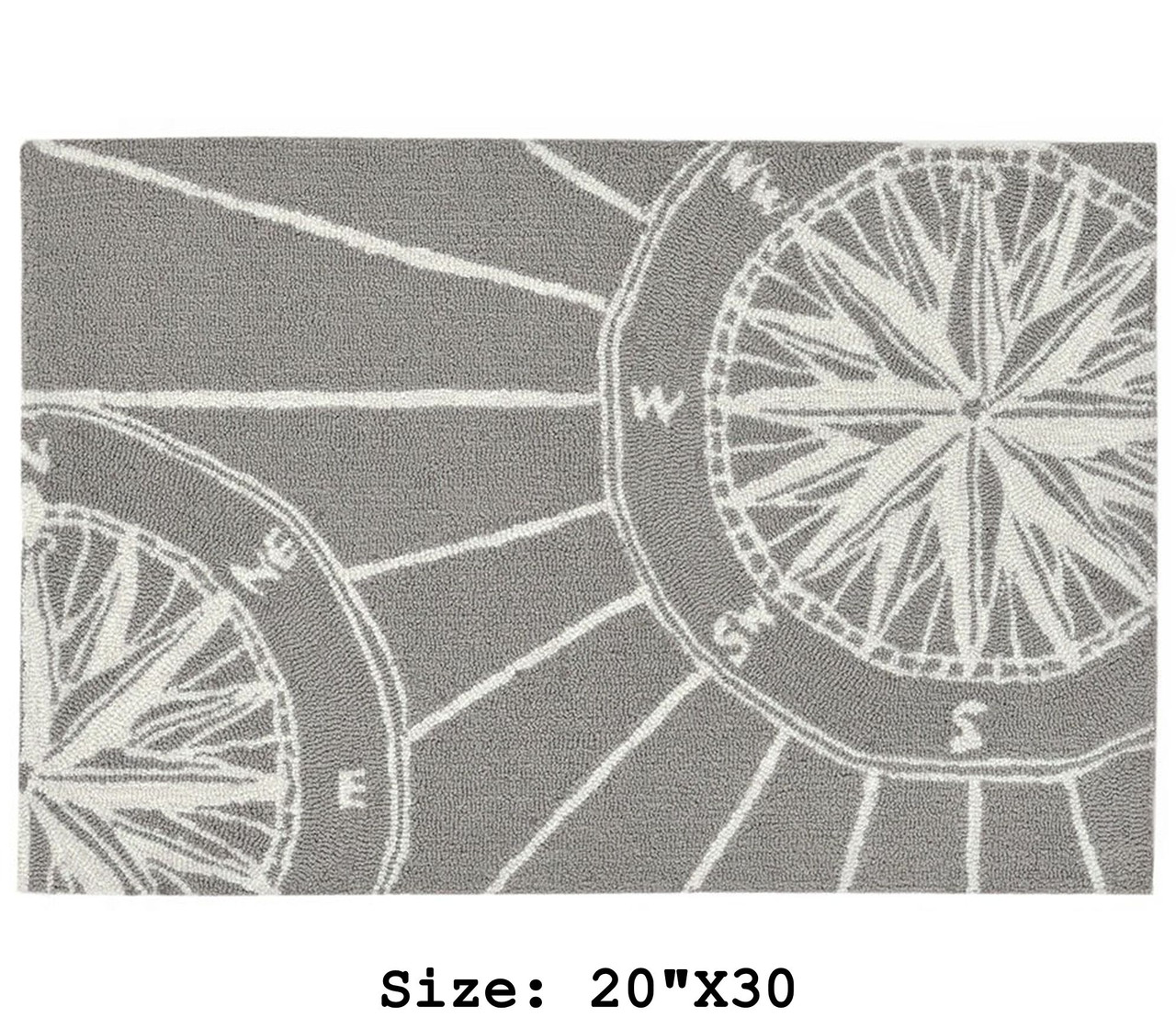 """Frontporch Compass Rose Indoor/Outdoor Rug - Extra Small Rectangle -  20""""x30"""""""