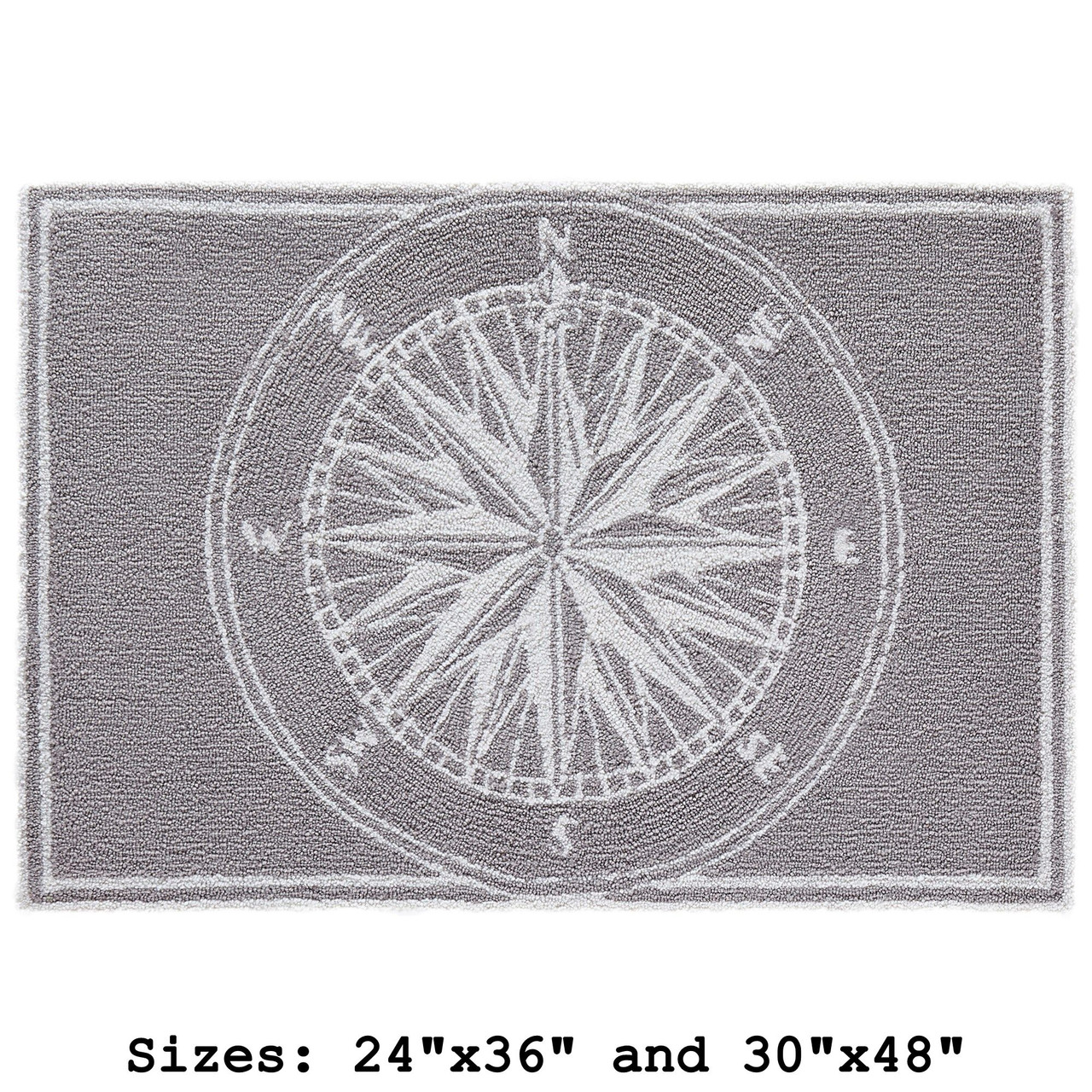 """Frontporch Compass Rose Indoor/Outdoor Rug - Small Rectangle - 24""""x36"""" and 30""""x40"""""""