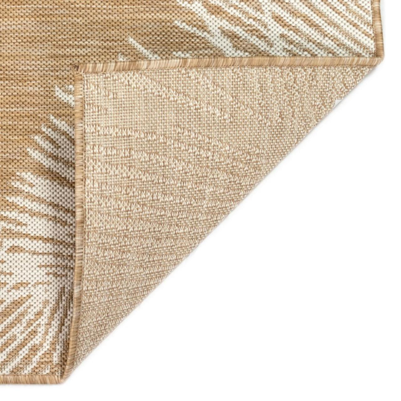 Sand Carmel Palm Leaf Indoor/Outdoor Rug - Backing
