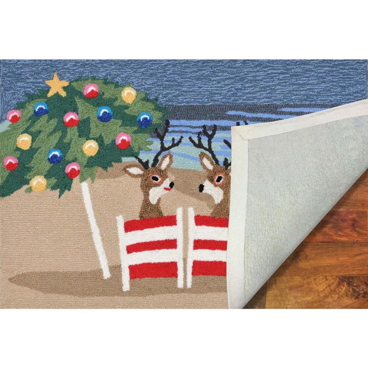 Frontporch Coastal Christmas Indoor/Outdoor Rug - Backing