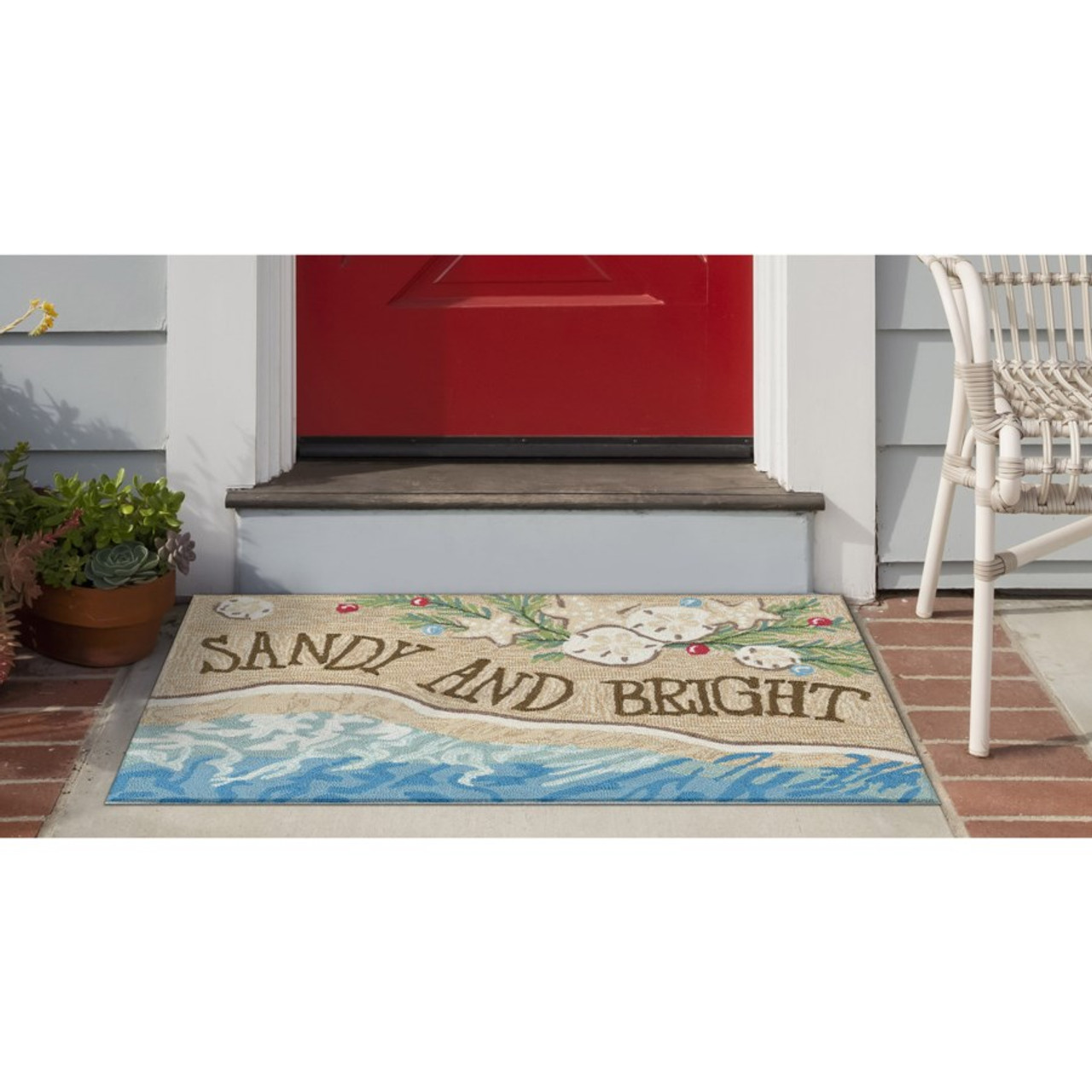"""Frontporch """"Sandy and Bright"""" Indoor/Outdoor Rug - Lifestyle"""