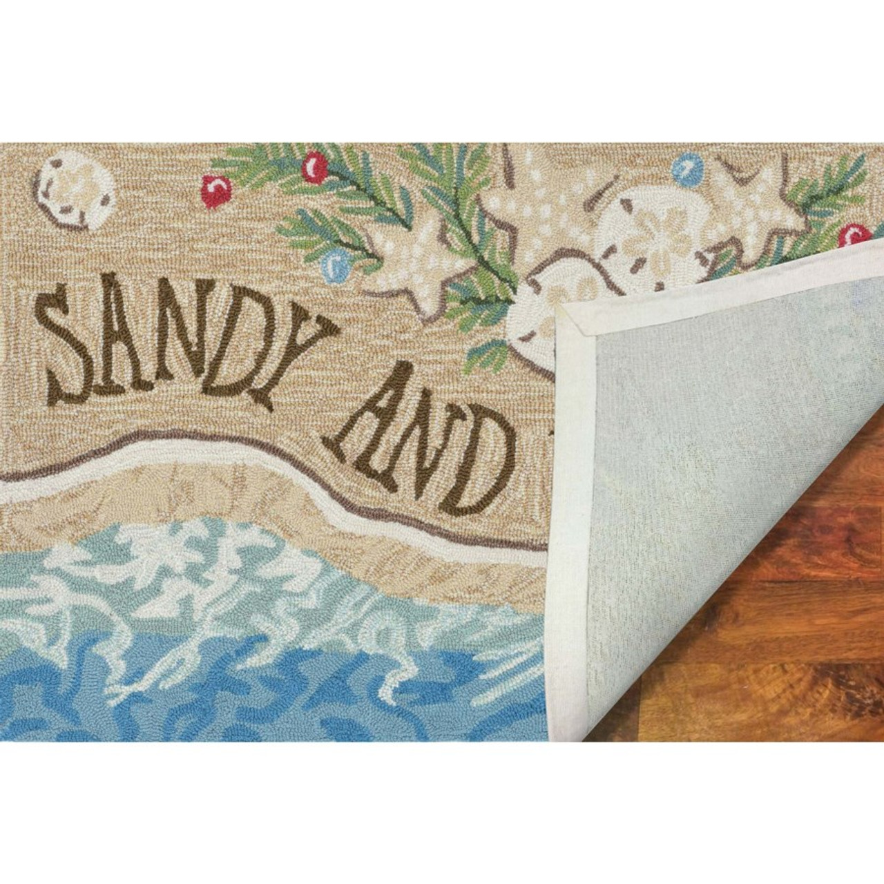 """Frontporch """"Sandy and Bright"""" Indoor/Outdoor Rug - Backing"""