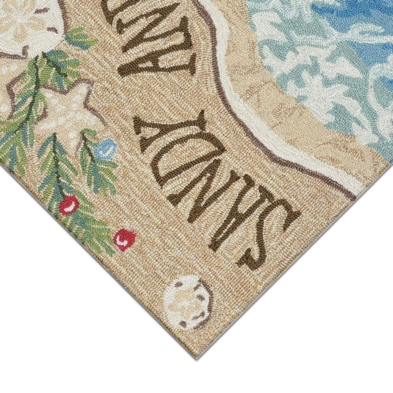 """Frontporch """"Sandy and Bright"""" Indoor/Outdoor Rug - Pile"""