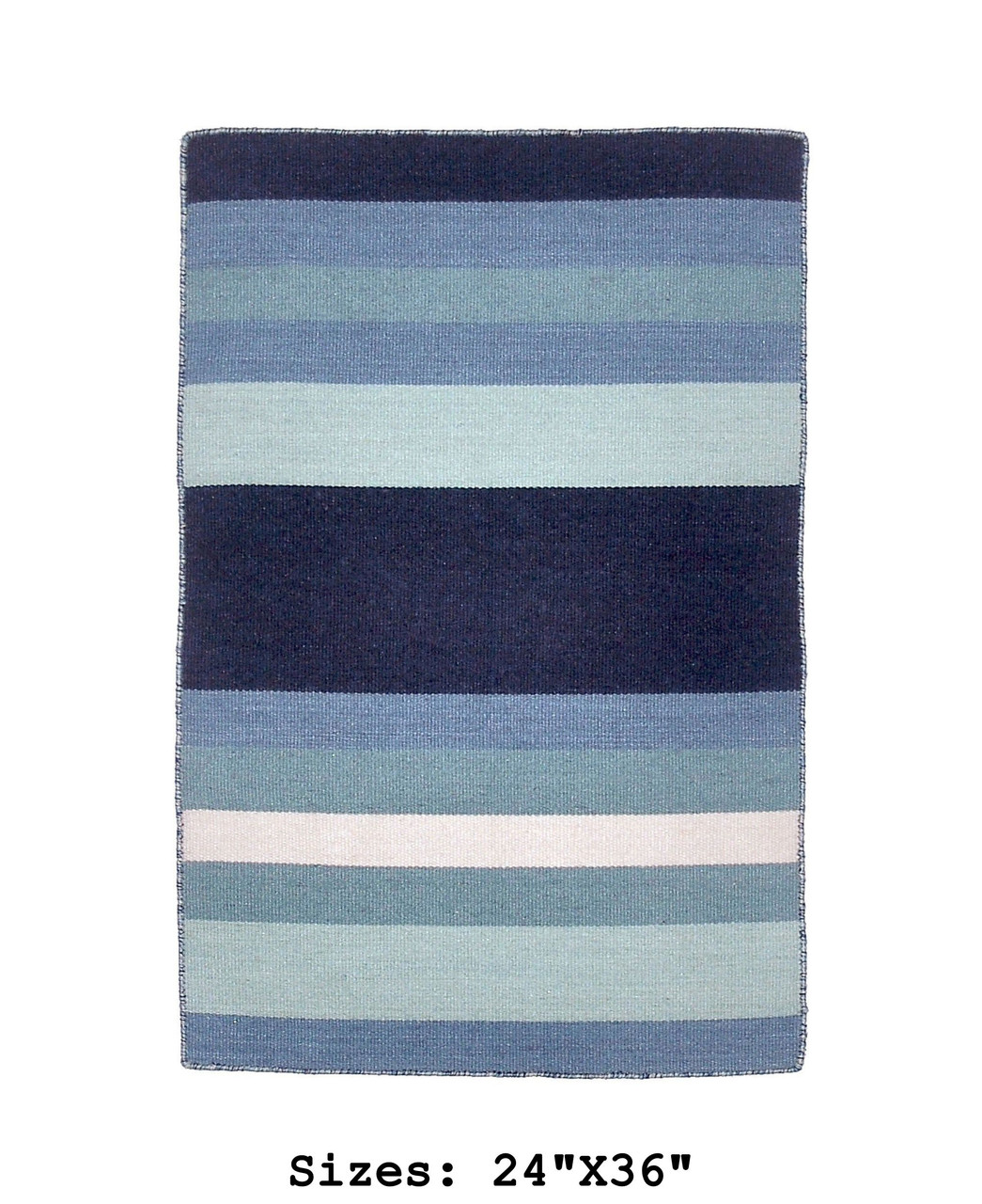 Blue Tribeca Stripes Indoor/Outdoor Rug - Small Rectangle