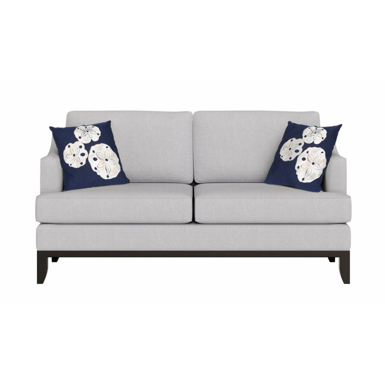 Visions Navy Sand Dollar Indoor/Outdoor Throw Pillow - Square Lifestyle