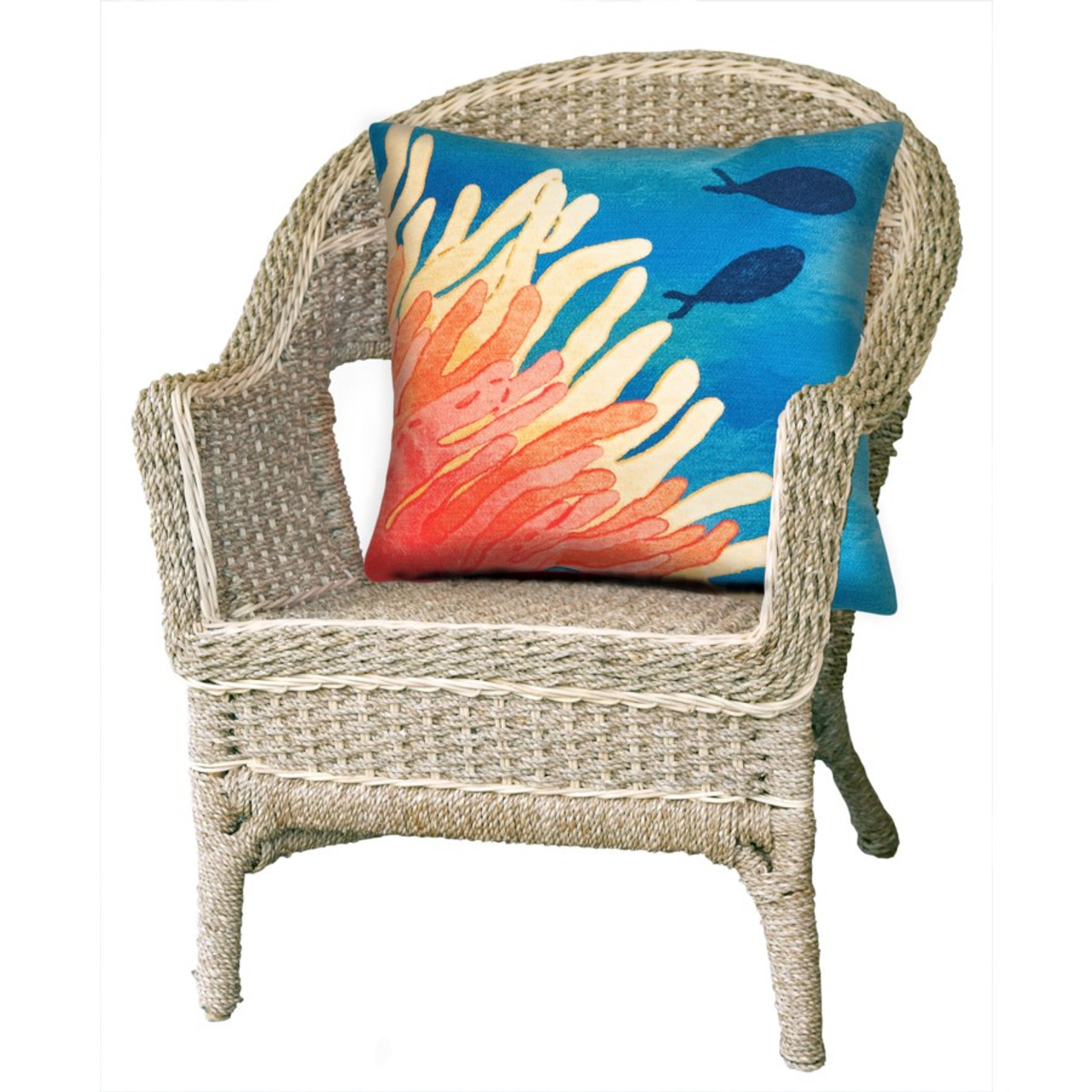 Visions Reef & Fish Indoor/Outdoor Throw Pillow - Square Lifestyle