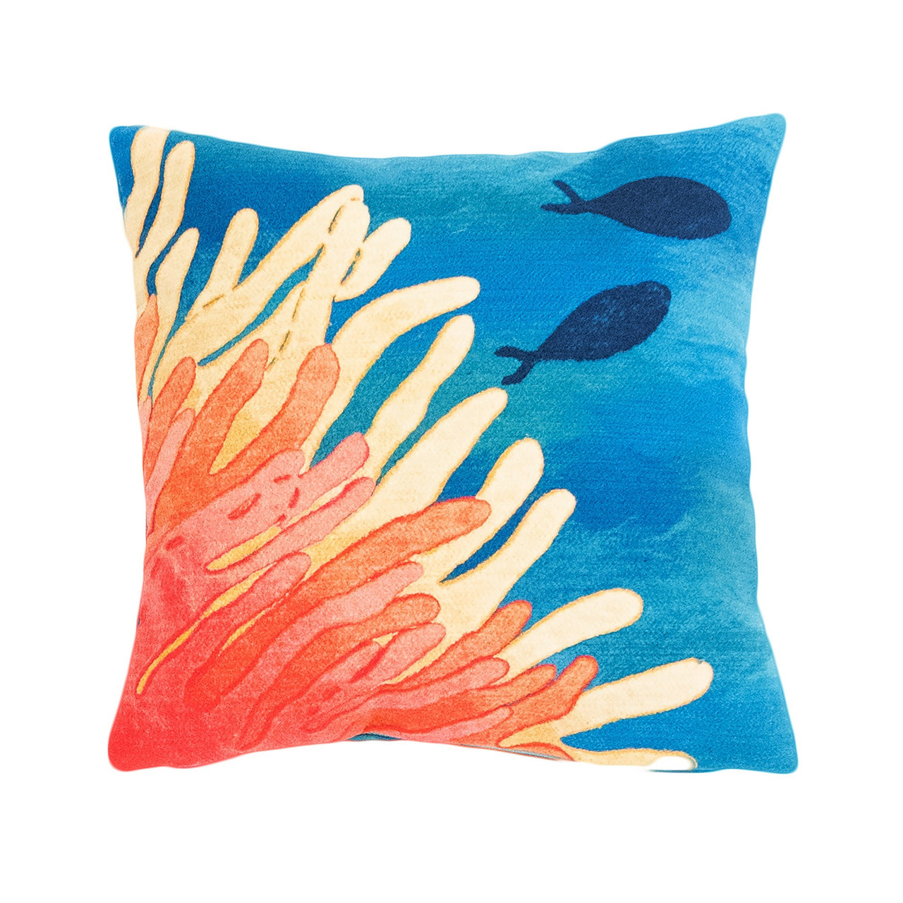 Visions Reef & Fish Indoor/Outdoor Throw Pillow - Square