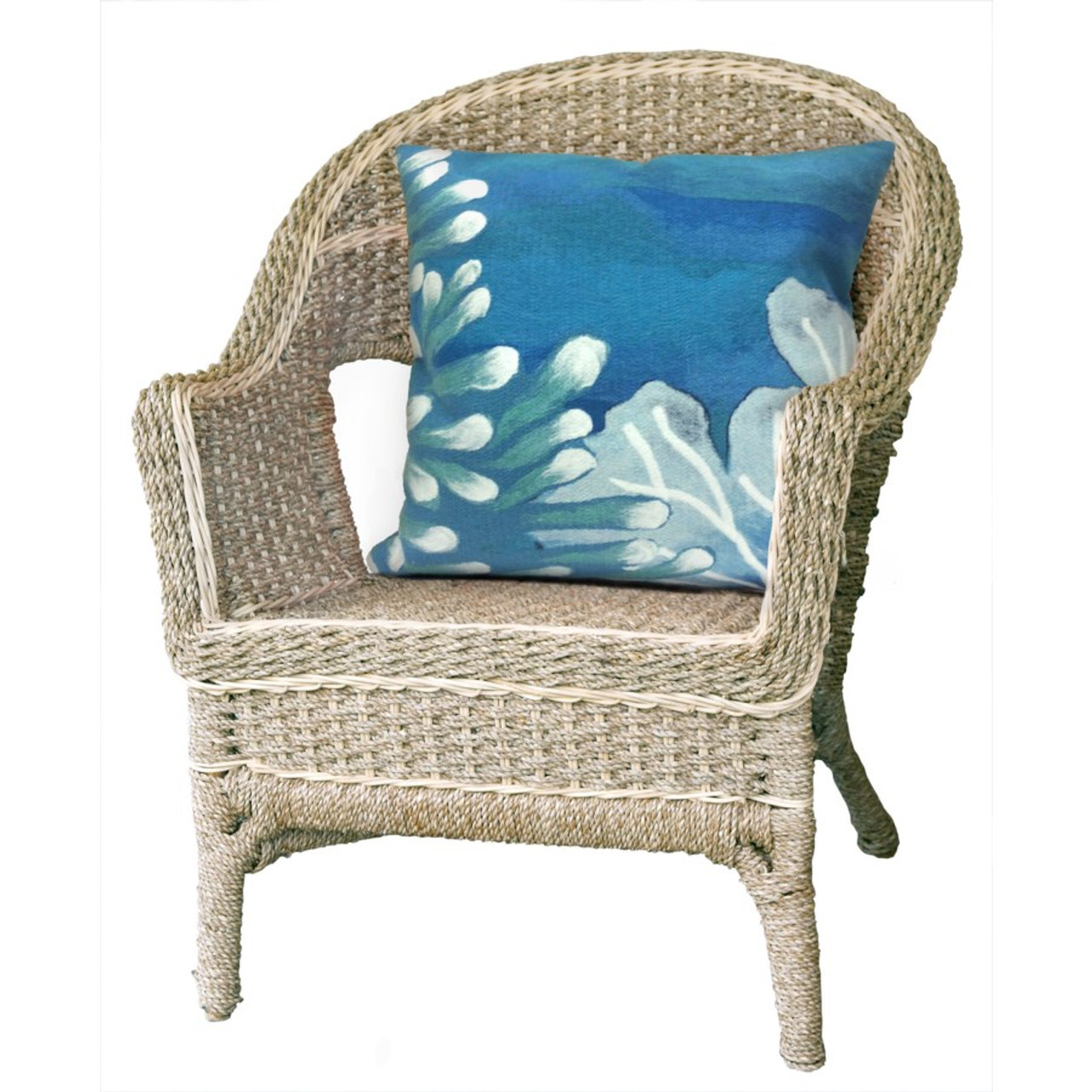 Visions Blue Reef Indoor/Outdoor Throw Pillow - Square Lifestyle