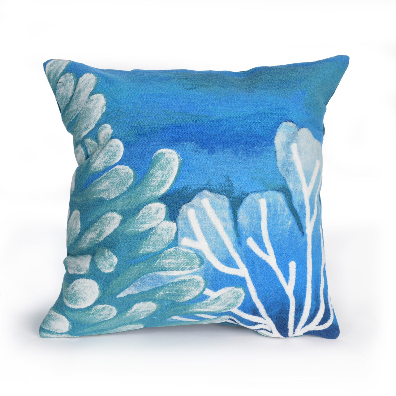 Visions Blue Reef Indoor/Outdoor Throw Pillow - Square