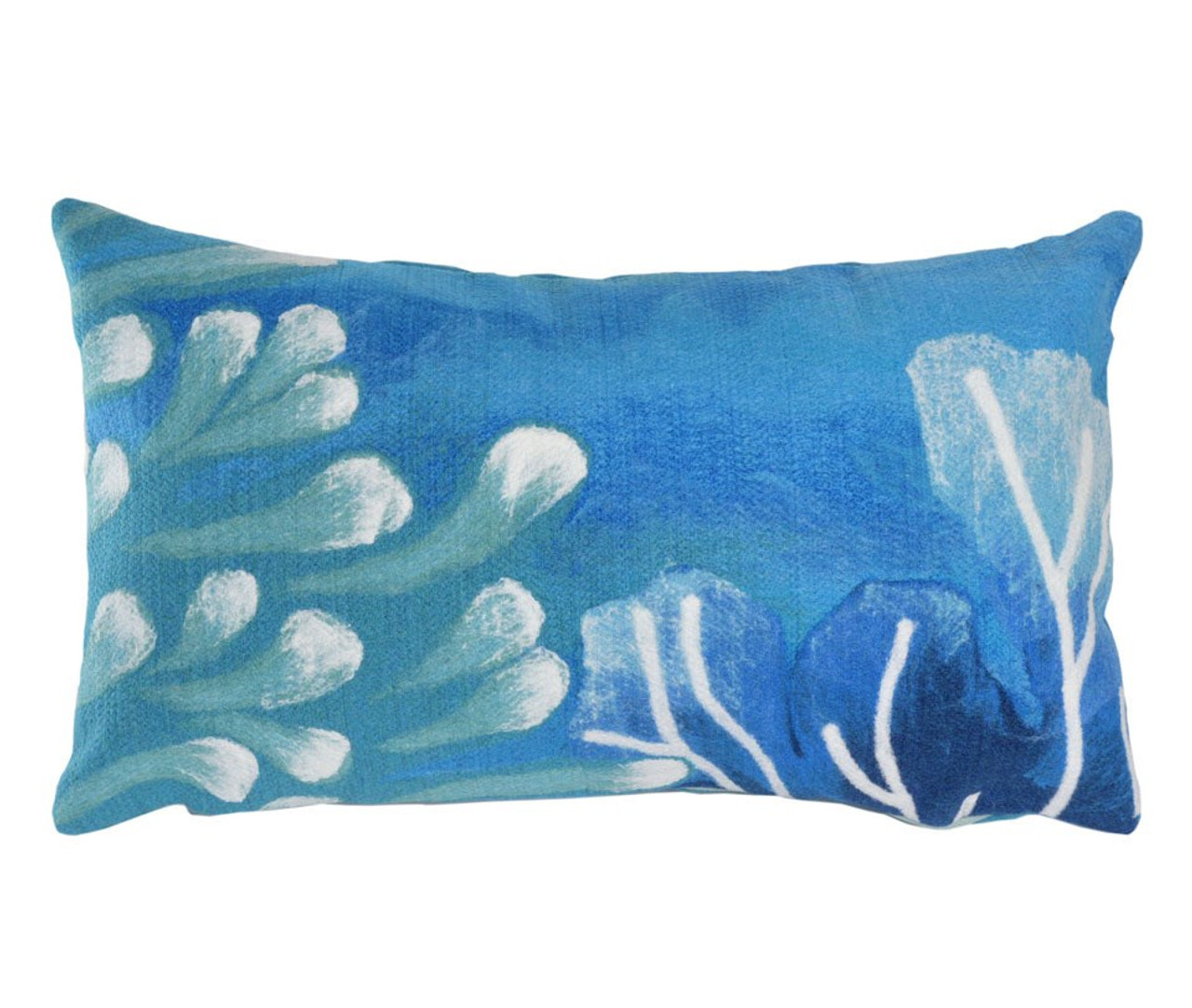 Visions Blue Reef Indoor/Outdoor Throw Pillow - Rectangle