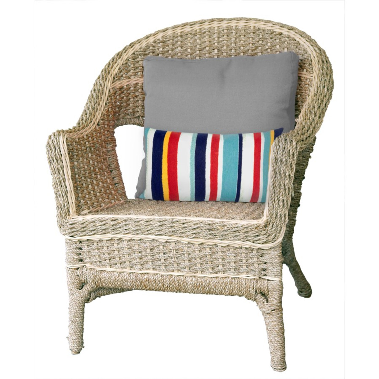 Visions Riviera Stripes Indoor/Outdoor Throw Pillow - Rectangle Lifestyle
